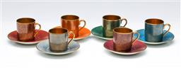 Sale 9164 - Lot 259 - A Rosenthal cup and saucer set of 6 duos