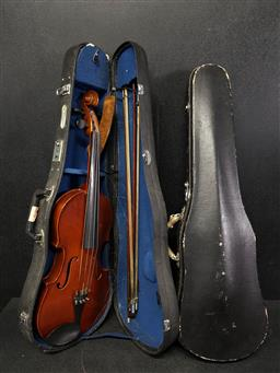 Sale 9254 - Lot 2190 - Violin and extra case