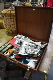 Sale 8013 - Lot 1248 - Timber Case Containing Photo Slides, Old Photos and other Photographic Items