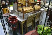 Sale 8019 - Lot 1054 - Timber 5 Piece Outdoor Suite incl. Table & 4 Chairs