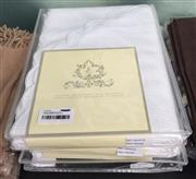 Sale 8310A - Lot 286 - A set of four cotton jacquard bed coverlets with scalloped edge, 180 x 260cm