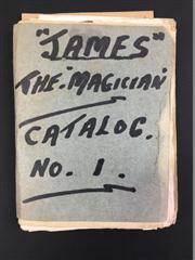 Sale 8539M - Lot 201 - James the Magician Catalog No.1. Compiled by Keith Abson, a miniature catalog. Length 13cm