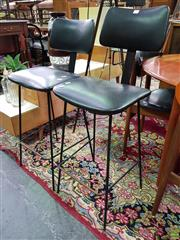 Sale 8566 - Lot 1161 - Pair of Vintage Barstools