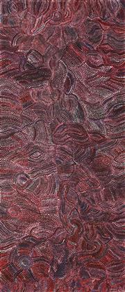Sale 8647 - Lot 563 - Joy (Petyarre) Pitjara (1962 - ) - Yam Seed Dreaming 204 x 87cm