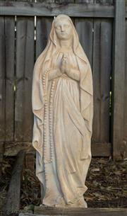 Sale 8745A - Lot 33 - A cast statue of Mary, H 83cm