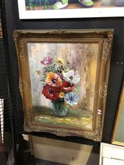 Sale 8903 - Lot 2069 - Basilio Still Lifeoil on canvas on board, 72 x 57.5cm (frame), signed