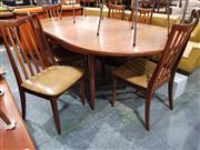 Sale 8930 - Lot 1034 - G-Plan Teak Table and Six Upholstered Chairs