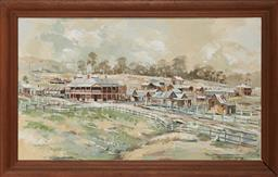 Sale 9125A - Lot 5044 - Philip Pomroy Gloucester 1900, 1987 oil on board 46 x 77.5 cm (frame: 58 x 88 x 4 cm) signed and dated lower right