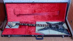 Sale 9191W - Lot 709 - A cased Washburn electric bass guitar
