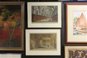 Sale 8332 - Lot 2022 - Pair of hand-coloured engravings - Library of the Pantheon, In Paris,