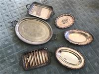 Sale 8392H - Lot 105 - A small group of oval and rectangular EP trays