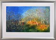 Sale 8401 - Lot 595 - David Boyd (1924 - 2011) - Orchard on the Edge of the Bush 55 x 93.5cm
