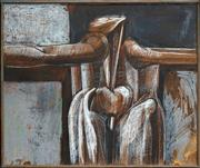Sale 8467 - Lot 563 - Martin Sharp (1942 - 2013) - Crucifixion, 1963 76.5 x 91cm