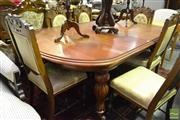 Sale 8515 - Lot 1075 - Mahogany Extension Dining Table