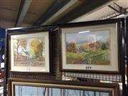 Sale 8759 - Lot 2099 - M. Gamble (2 works): Country Scenes watercolours, 43 x 52cm, signed and dated lower right