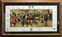 Sale 9112T - Lot 7 - Framed Foundation club- Balmain Tigerssigned poster. Edition 87/500 (65 x 110cm)