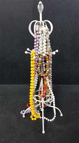 Sale 9254 - Lot 2169 - Jewellery Display Stand with Beaded Necklaces