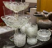 Sale 8310A - Lot 125 - An assortment of crystalwares including bon bon dishes and comports plus ashtrays.