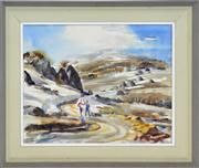Sale 8365A - Lot 49 - Frederick Bates (1918 - ) - Road to the Sundeck 40 x 50cm