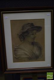 Sale 8503 - Lot 2091 - Artist Unknown (XIX) - Constance (Sketch), 1887 41.5 x 31.5cm