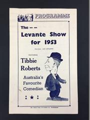 Sale 8539M - Lot 203 - The Great Levante - show programme for 1953, good condition
