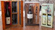 Sale 8562A - Lot 118 - Three boxed lots of assorted alcohol, including; Chris Hill Unearthed Shiraz, Hunter Valley, 1996, Grant Burge 10 yr old Tawny Port...
