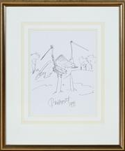 Sale 8562A - Lot 161 - Kevin Charles Pro Hart - Two Storks, 1991 58 x 68cm