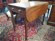 Sale 8792 - Lot 1082 - Regency Mahogany Pembroke Table, with single frieze drawer, on square tapering legs