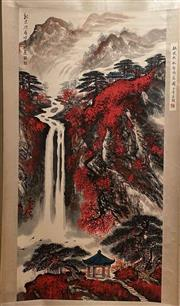 Sale 8951S - Lot 48 - Chinese Landscape Scroll, Ink and Colour on Paper