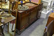 Sale 8039 - Lot 1036 - Timber Sideboard w 3 Doors & Drawers