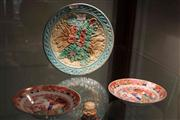 Sale 8047 - Lot 48 - English Chinoiserie Pair of Dishes & a Floral Plate (AF)