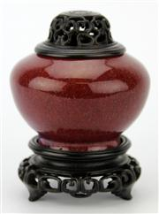 Sale 8096 - Lot 46 - Late Qing Flambe Chicken Liver Ceramic Censer