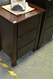Sale 8093 - Lot 1092 - Pair of Timber Bedside Cabinets
