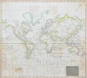 Sale 8332A - Lot 84 - John Thompson (1777 - 1837) - Hydrographical Chart of the World on Wright or Mercators Projection With Tracts of the Last Circumnavi...