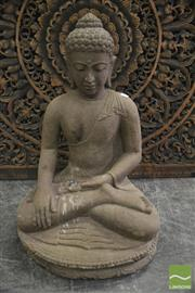Sale 8361 - Lot 1001 - Stone Buddha Figure