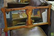 Sale 8523 - Lot 1020 - Timber Framed Mirror With Ornate Carvings