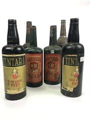 Sale 8539M - Lot 125 - Collection of Tin Multiplying and Topsy-Turvy Bottle Tricks. Some with labels Tooths and Tintara