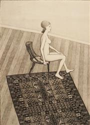 Sale 8606 - Lot 529 - John Brack (1920 - 1999) - Nude in Profile 65 x 47.5cm