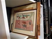 Sale 8682 - Lot 2078 - 4 Works: Artist Unknown - Oriental Scenes, each framed and various sizes