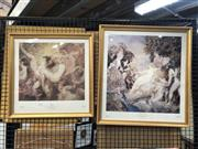 Sale 8779 - Lot 2028 - Pair of Norman Lindsay Decorative Prints, Spring and Court of Venus, various sizes