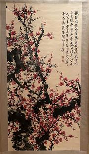 Sale 8951S - Lot 49 - Chinese Plum Blossom Scroll, Ink and Colour on Paper
