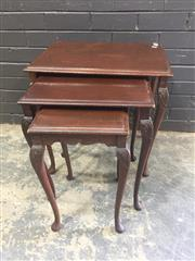 Sale 9017 - Lot 1029 - Nest of 3 Timber Tables (h:59 x w:57 x d:42cm)
