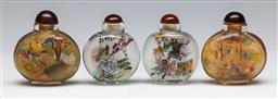 Sale 9144 - Lot 403 - Set of 4 cased Chinese glass snuff bottles (H:6cm)