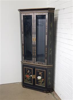 Sale 9151 - Lot 1405 - Chinese 2 piece corner display cabinet (h:178 x w:83cm)