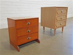 Sale 9174 - Lot 1287 - Retro bedside and another