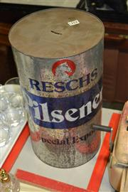 Sale 8071 - Lot 2317 - Pilsner Tin Money Box -
