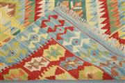 Sale 8445K - Lot 8 - Summer Afghan Tribal Kilim Rug , 192x120cm, Finely handwoven in Northern Afghanistan using high quality local wool. Vibrant summer c...