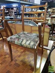 Sale 8532 - Lot 1096 - Set of 6 Retro Teak Chairs (one damaged)