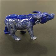 Sale 8567 - Lot 697 - Lapis Lazuli Carved Water Buffalo