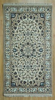 Sale 8585C - Lot 27 - Persian Nain Silk Inlaid 170cm x 90cm